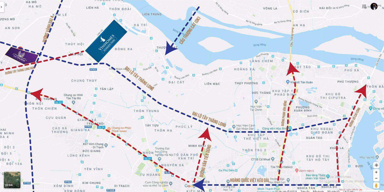 Vị trí dự án Vinhomes Wonder Park Google Map